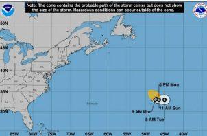 """Su pronóstico es el de """"huracán de corta vida""""."""