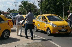 El desorden  de los transportistas en diferentes partes del país es una constante.