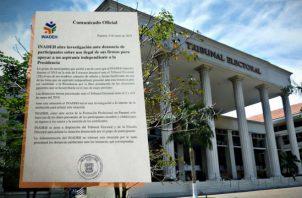 El Inadeh presentó la denuncia ante el Tribunal Electoral y se puso a disposición de la Fiscalía Electoral.  Twitter
