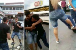Intolerancia reina en las calles; puños y patadas entre conductores de la capital. Foto: Redes sociales.