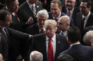 El presidente Donald Trump, hizo un llamado a la reconciliación. FOTO/AP