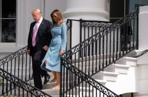 El presidente de Estados Unidos Donald Trump, realizará la vista de Estado acompañado de su esposa la primera dama Melania Trump. FOTO/EFE