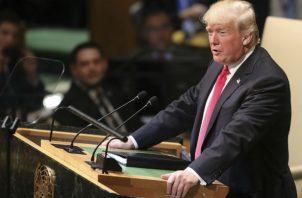 El presidente de EE.UU., Donald Trump, pidió la restauración de la democracia en Venezuela en su discurso. AP