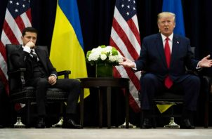 El presidente Trump pidió al presidente Zelensky de Ucrania que investigara a sus oponentes demócratas. Foto/ Doug Mills/The New York Times.