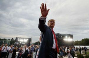 Trump anunció nuevos viajes espaciales. Foto: AP.