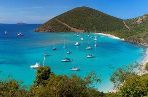 Imagen de una bahía en una de las Islas Vírgenes Británicas. Foto: EFE