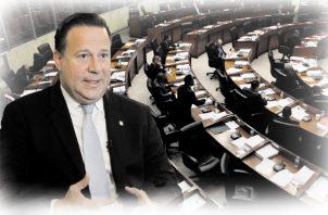 El presidente Juan Carlos Varela y su pérdida de poder dentro de la Asamblea Nacional de Diputados. Foto: Panamá América.