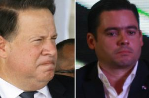 Juan Carlos Varela (izq.) ha tenido diferencias con el vicepresidente electo, José Gabriel Carrizo (der.). Foto de archivo
