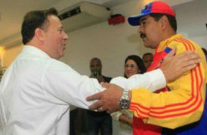 Juan Carlos Varela mantuvo en el pasado buenas relaciones con Nicolás Maduro.