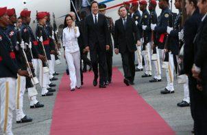 Presidente Juan Carlos Varela, Isabel De Saint Malo y Miguel Hincapié se van a Belice. Foto: Panamá América.