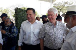 Bill Clinton, expresidente de EE.UU., estuvo en la inauguración. Foto: Mayra Madrid.
