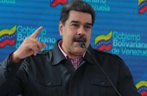 El mandatario venezolano, Nicolás Maduro, durante las elecciones de concejales en Caracas (Venezuela). EFE