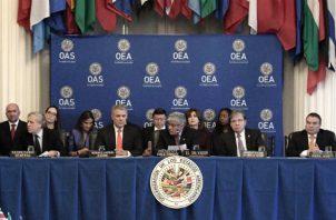 Reunión de la OEA en Washington con la asistencia del presidente colombiano Iván Duque. Foto: EFE.