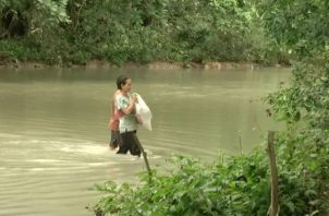 ¡Lamentable¡ Padre e hijo mueren ahogados en Veraguas. Foto: Epasa.