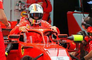 Sebastian Vettel de Ferrari. Foto:EFE