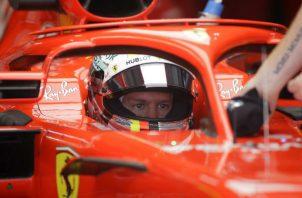 Sebastian Vettel de Ferrari. Foto:AP