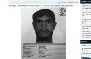 Ministerio Público busca a venezolano que violó a una mujer en Panamá Oeste. Foto: Ministerio Público.