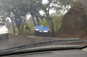 A pesar de lo aparatoso del accidente no hubo víctimas fatales ni heridos. Foto/Mayra Madrid