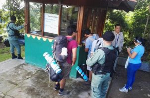 En el operativo de prevención trabajaron 44 funcionarios de Mi Ambiente, 6 unidades de la Policía Nacional Ecológica, 10 agentes de SENAFRONT  y unidades de Organismos No Gubernamentales SAR Panamá. Foto/José Vásquez