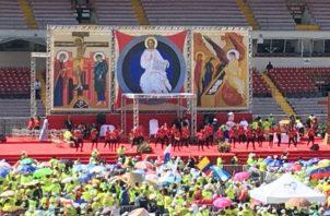 Papa pidió a los voluntarios ser multiplicadores de esperanzas. Foto/Cortesía