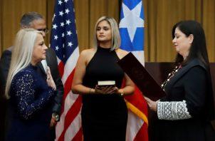 Wanda Vásquez, antes de asumir el poder ya ha hecho saber en dos ocasiones que accedería al cargo solo en caso de necesidad y que no tenía especial interés en el puesto. FOTO/AP
