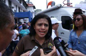 Yadira Pino de Aeve aseguró que el gobierno miente en el tema de inversión en la comarca Ngäbe Buglé. Foto: Panamá América.