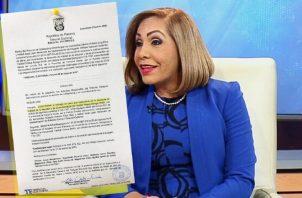 Fallo ordenó también la entrega de la fianza a la diputada. Foto de Twitter