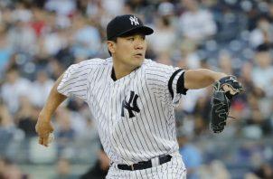 El lanzador derecho japonés Masahiro Tanaka. Foto:AP