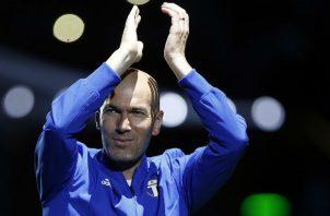 Zinedine Zidane salió del Madrid al finalizar la pasada temporada. Foto AP