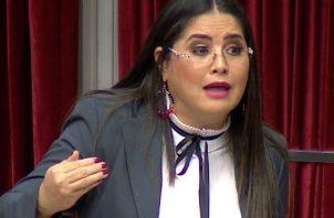 La diputada Zulay Rodríguez hizo la denuncia en el Pleno. Foto de cortesía