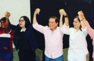 Zulay Rodríguez decidió apoyar a Laurentino Cortizo. Archivo