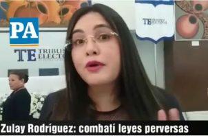 Diputada PRD, Zulay Rodríguez. Foto/Adiel Bonilla