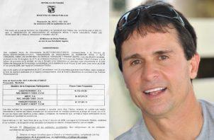 """""""Peter"""" Vallarino ha sido beneficiado con varios contratos en la administración del presidente Varela. Archivo"""