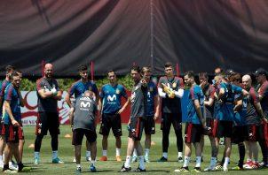 la selección española, prepara los octavos de final. Foto EFE