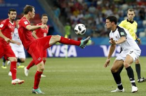 Partido que enfrentaba las selecciones de Suiza y Costa Rica. Foto EFE