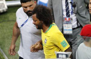 Marcelo tuvo dolores en la espalda. Foto AP