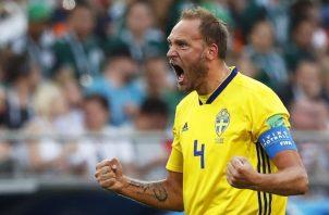 Andreas Granqvist ha sido goleador de Suecia en el mundial. Foto EFE