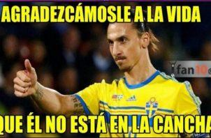 Zlatan no jugó en Rusia.