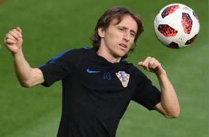 Luka Modric en el entrenamiento de Croacia. Foto EFE