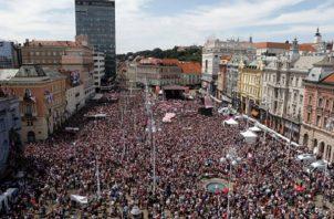 Croacia premia a sus jugadores.