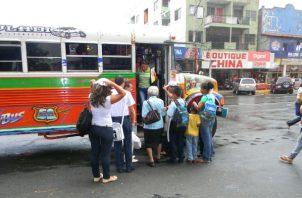 Panamá Oeste cuenta con alrededor de 700 unidades colectivos de distintas rutas que viajan hasta la capital.