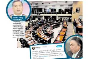 Diputados Beby Valderrama y Aris de Icaza.