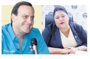 Riccardo Francolini Arosemena y la fiscal Tania Sterling.