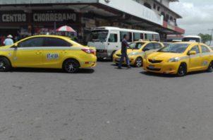 Taxistas le exigen más seguridad a la Policía Nacional. Foto/Eric Montenegro