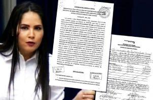 Zulay Rodríguez colgó en Twitter copias del contrato de venta de arroz al IMA. Archivo