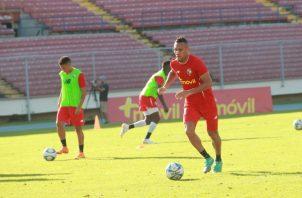 Palacios, durante el entrenamiento de la selección de Panamá. Anayansi Gamez