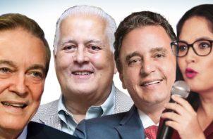 Se espera que estos cuatro precandidatos lideren las preferencias perredistas.  Archivo
