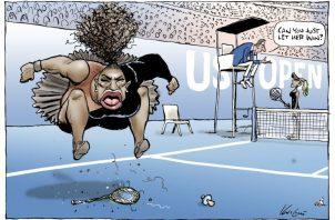 La caricatura de la polémica sobre Serena Williams. Foto A
