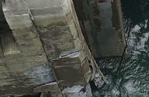 Imágenes que circulan sobre las afectaciones en las esclusas. Archivo
