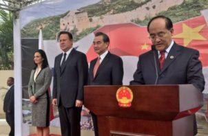 Juan Carlos Varela no descartó establecer Embajada China en Amador.